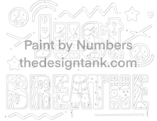 Downloadable Paint by Numbers Just Breathe Painting - www.thedesigntank.com
