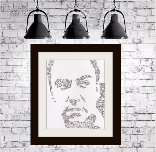Dave Matthews Lyrical Portrait Print on Fine Art Paper by Amanda Lea Pulis - Design Tank