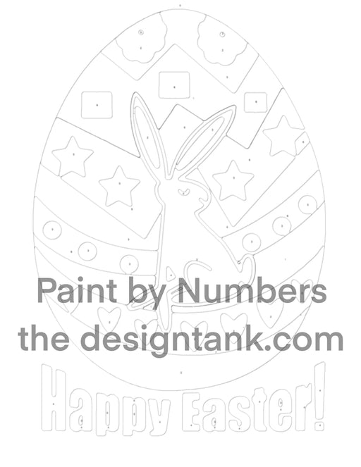 Downloadable Happy Easter Paint by Numbers - Design Tank