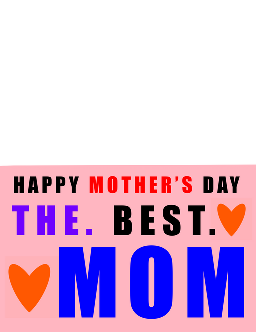 Downloadable Happy Mother's Day Card Paint by Numbers - www.thedesigntank.com