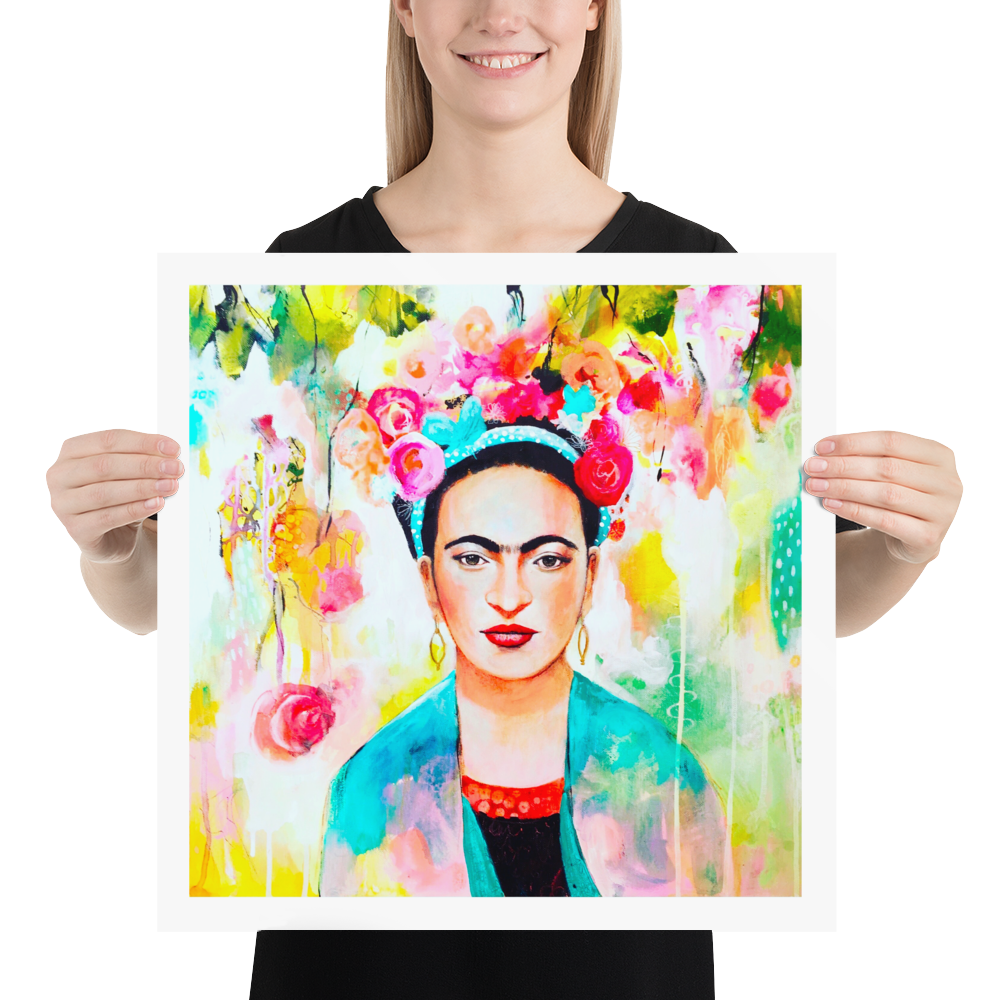 Frida Print by Tracy Verdugo on Fine Art Paper - Design Tank