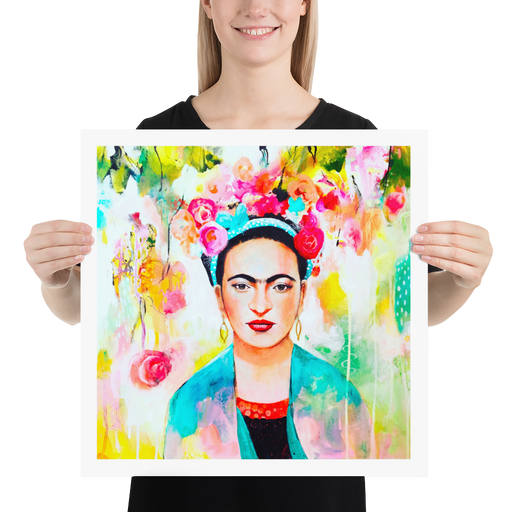 Frida Print by Tracy Verdugo on Fine Art Paper - www.thedesigntank.com