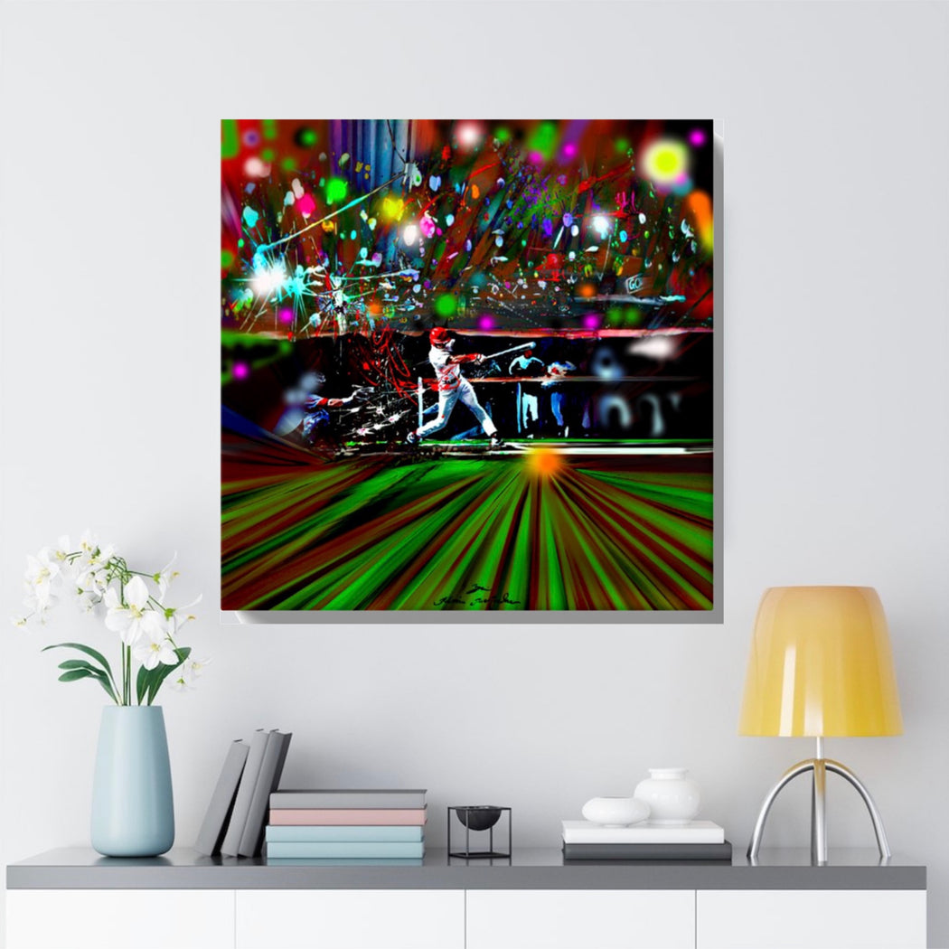 Baseball Print on Canvas by Remi Bertoche - www.thedesigntank.com