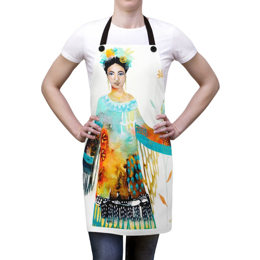 Unfurling of my Heart Artist Apron by Tracy Verdugo - Design Tank