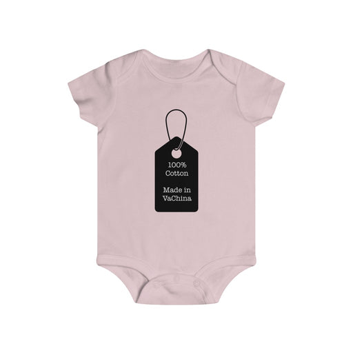 Made in VaChina Funny Baby Onesie - Design Tank
