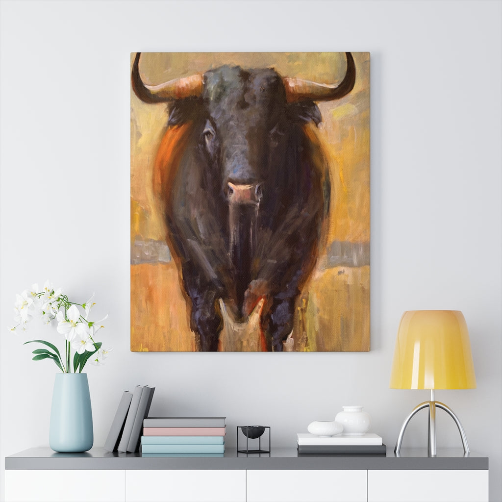 Bull Print on Canvas - www.thedesigntank.com