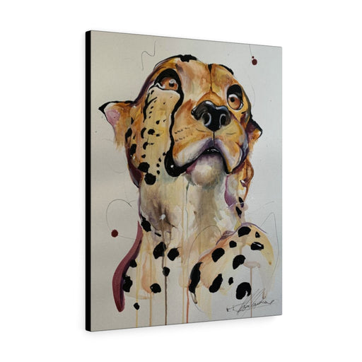 Cheetah Print on Canvas - www.thedesigntank.com