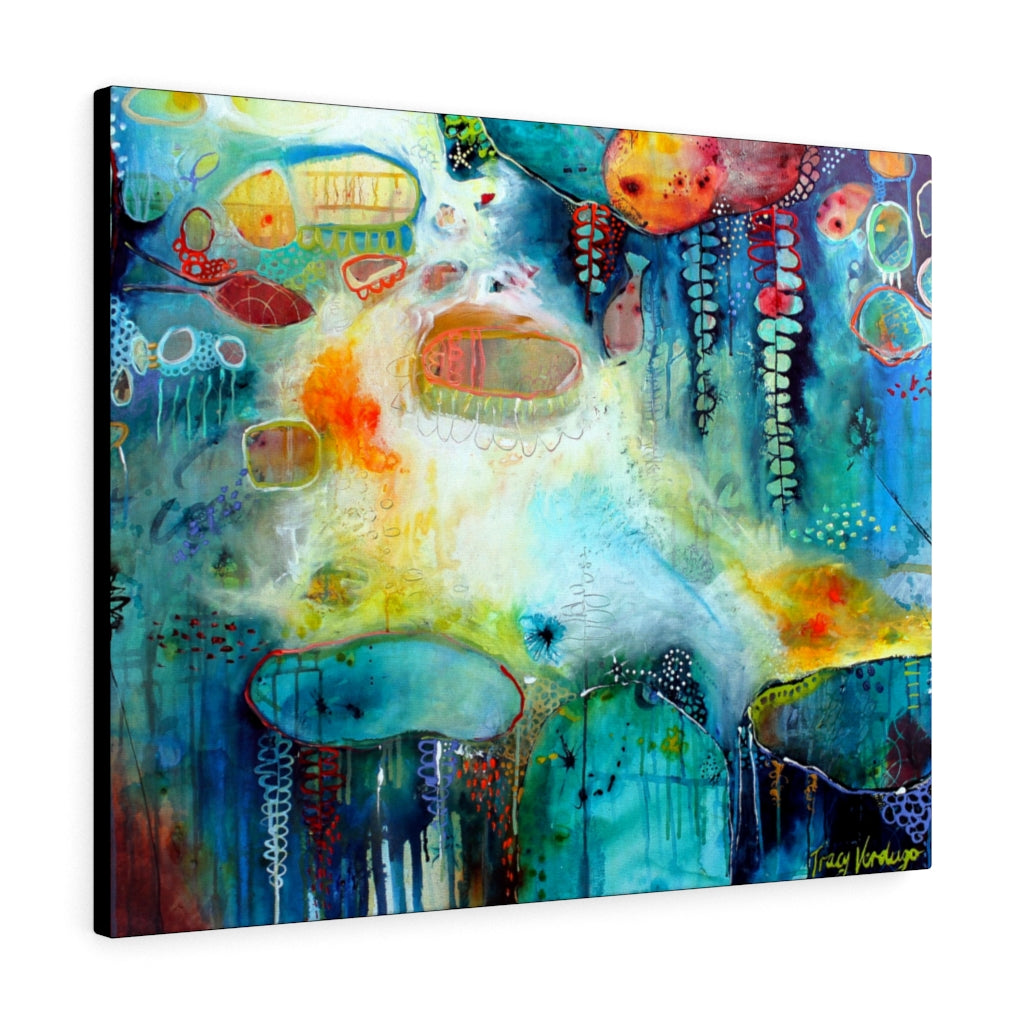 Ocean Dive Print by Tracy Verdugo on Canvas - www.thedesigntank.com