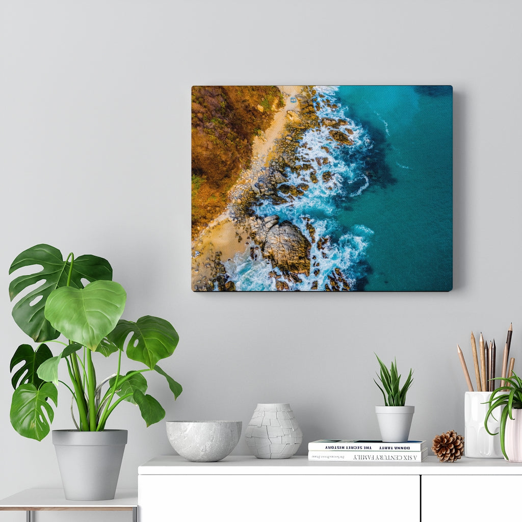 Playa Coral Print on Canvas - www.thedesigntank.com