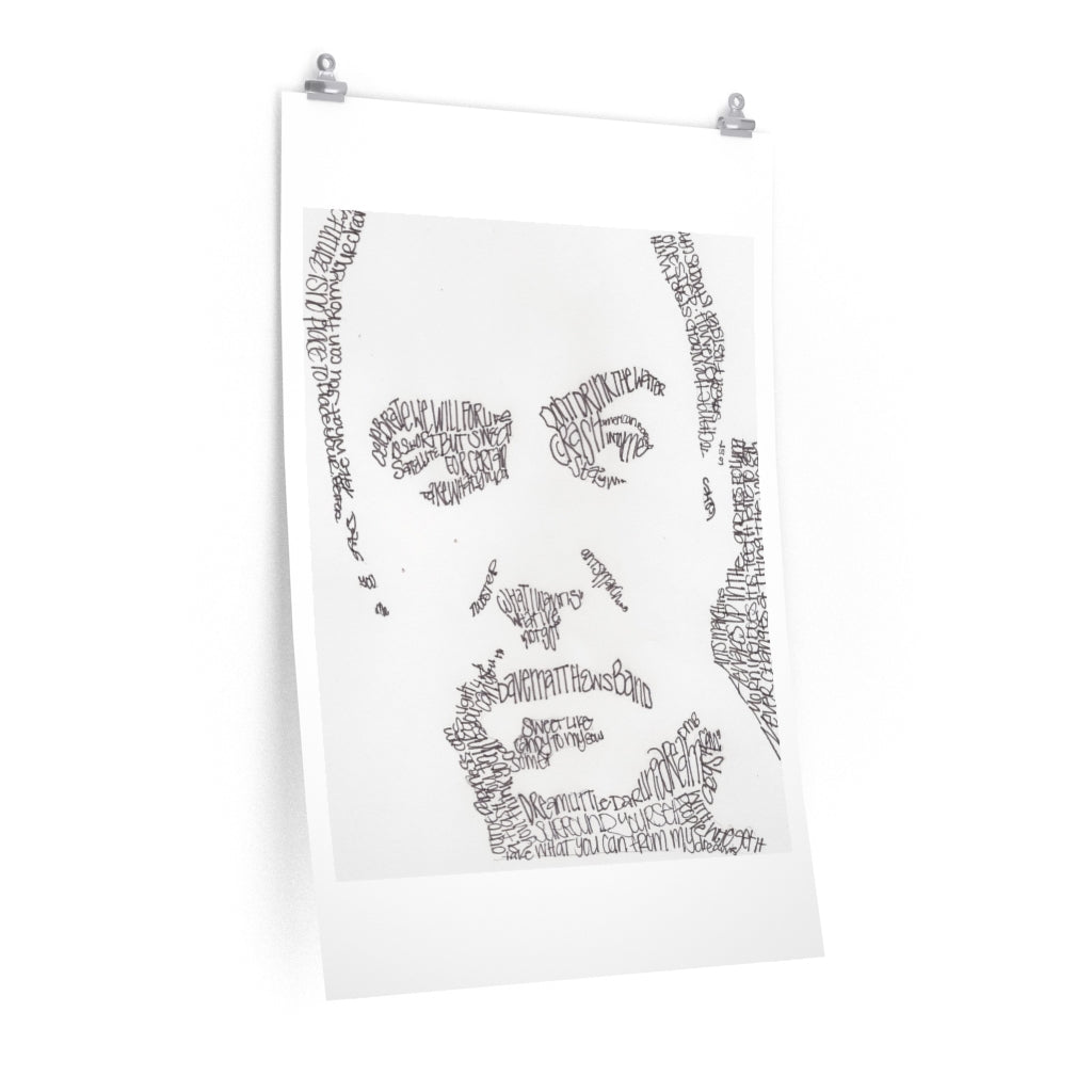 Dave Matthews Prints on Fine Art Paper - www.thedesigntank.com