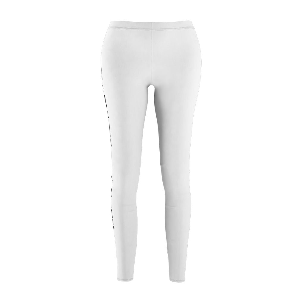 Women's White Customizable Leggings - Design Tank