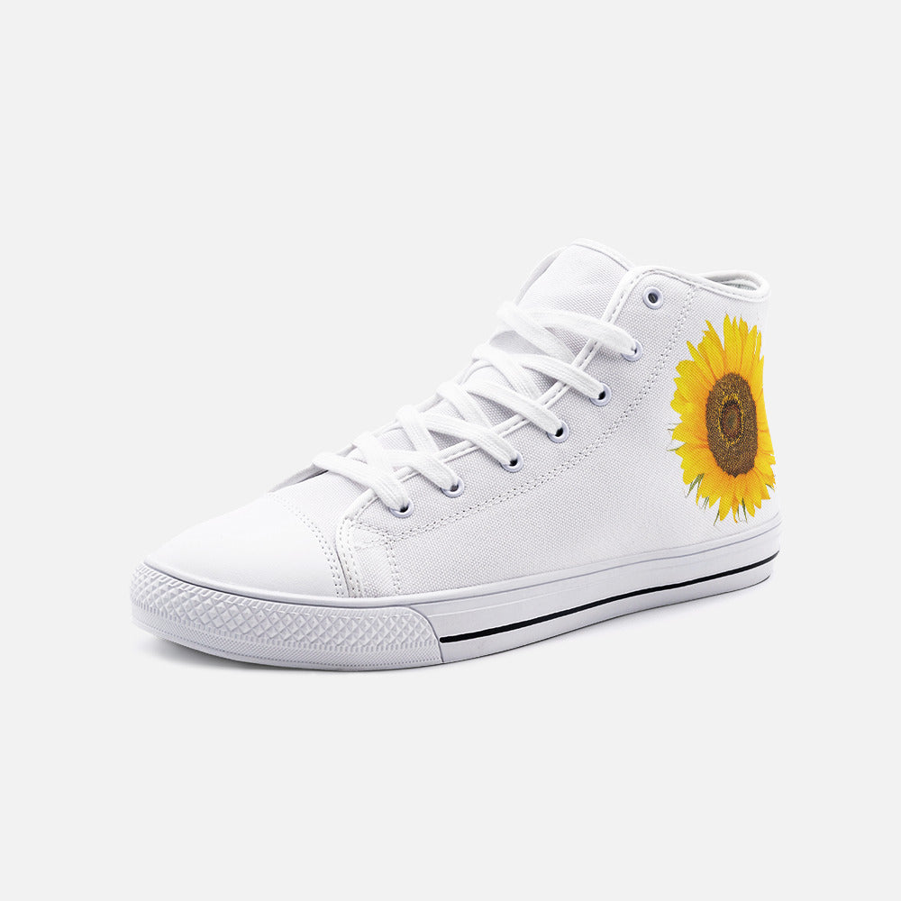 Sunflower High Top Canvas Shoes - www.thedesigntank.com