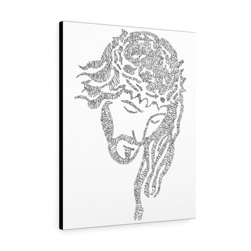 Jesus Print on Canvas - www.thedesigntank.com