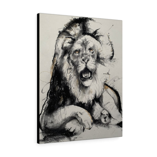 Lion Print on Canvas - www.thedesigntank.com