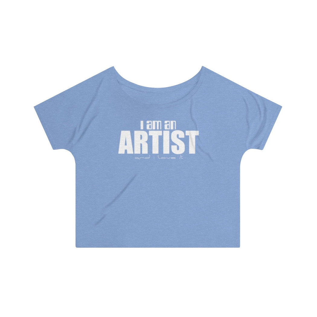 I am an Artist and I love it Women's 0ff the shoulder top - www.thedesigntank.com