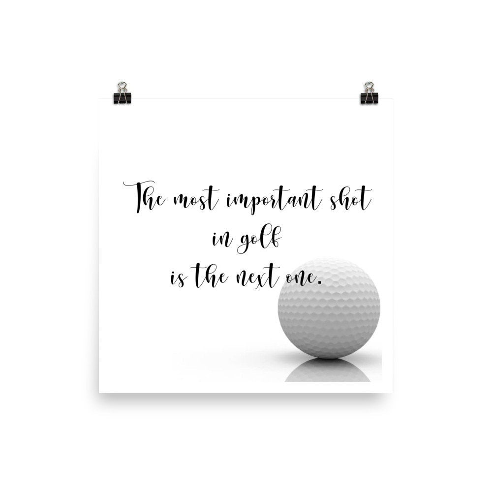 The most important shot Golf Print - www.thedesigntank.com