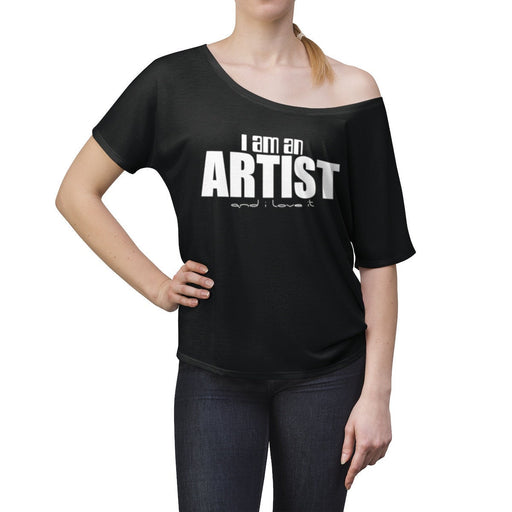 I am an Artist and I love it Women's off the shoulder top - Design Tank