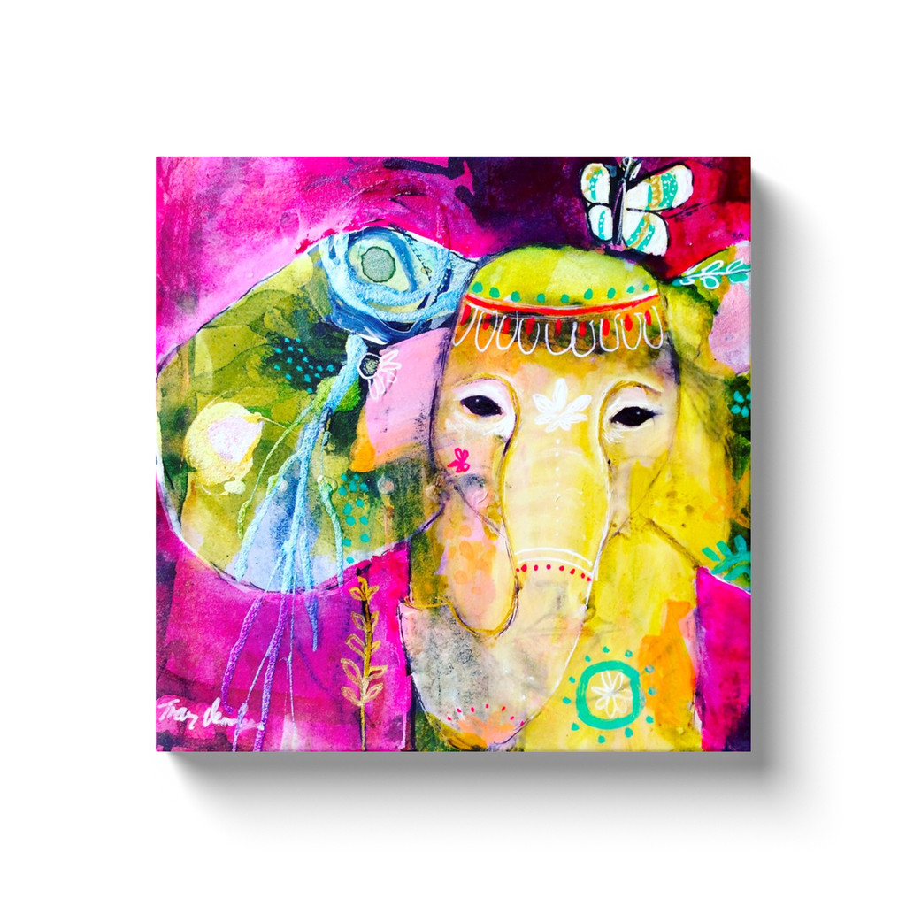 Elephant Print by Tracy Verdugo on Canvas - www.thedesigntank.com