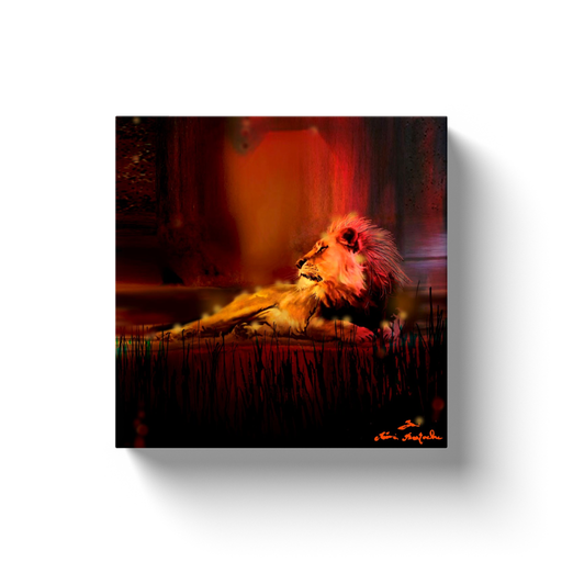 Lion Print on Canvas by Remi Bertoche - www.thedesigntank.com