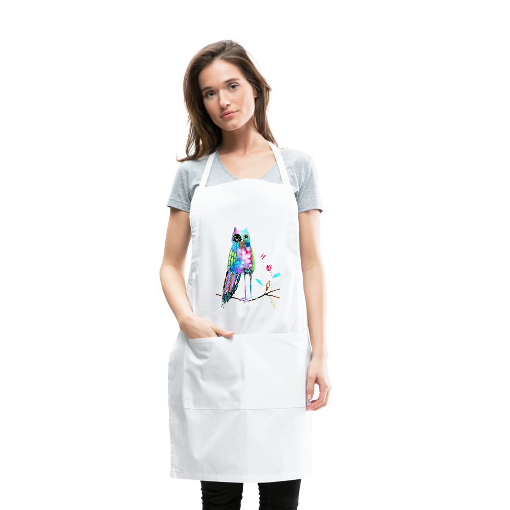 Wonky Owl Artist Apron by Tracy Verdugo - www.thedesigntank.com