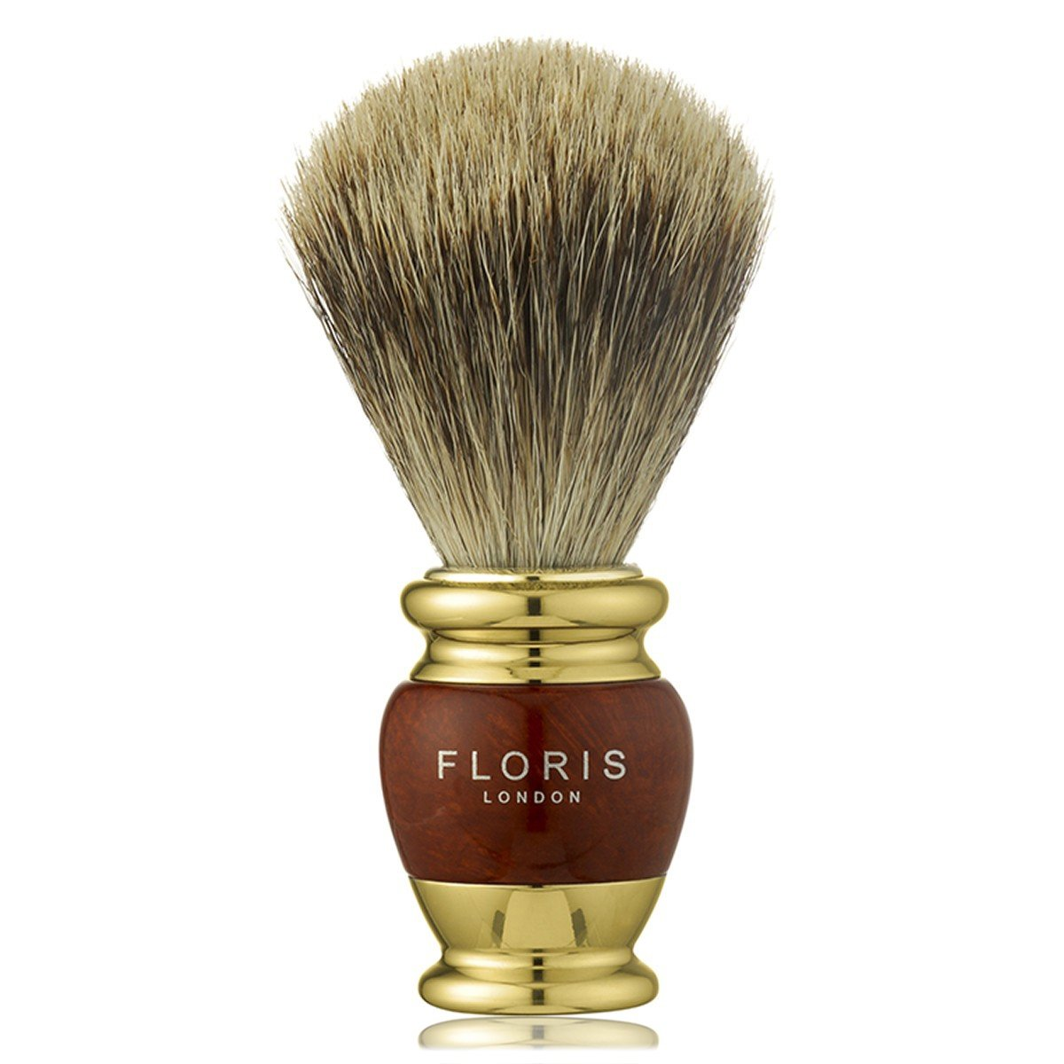 Briarwood & Gold Plate - Shaving Brush