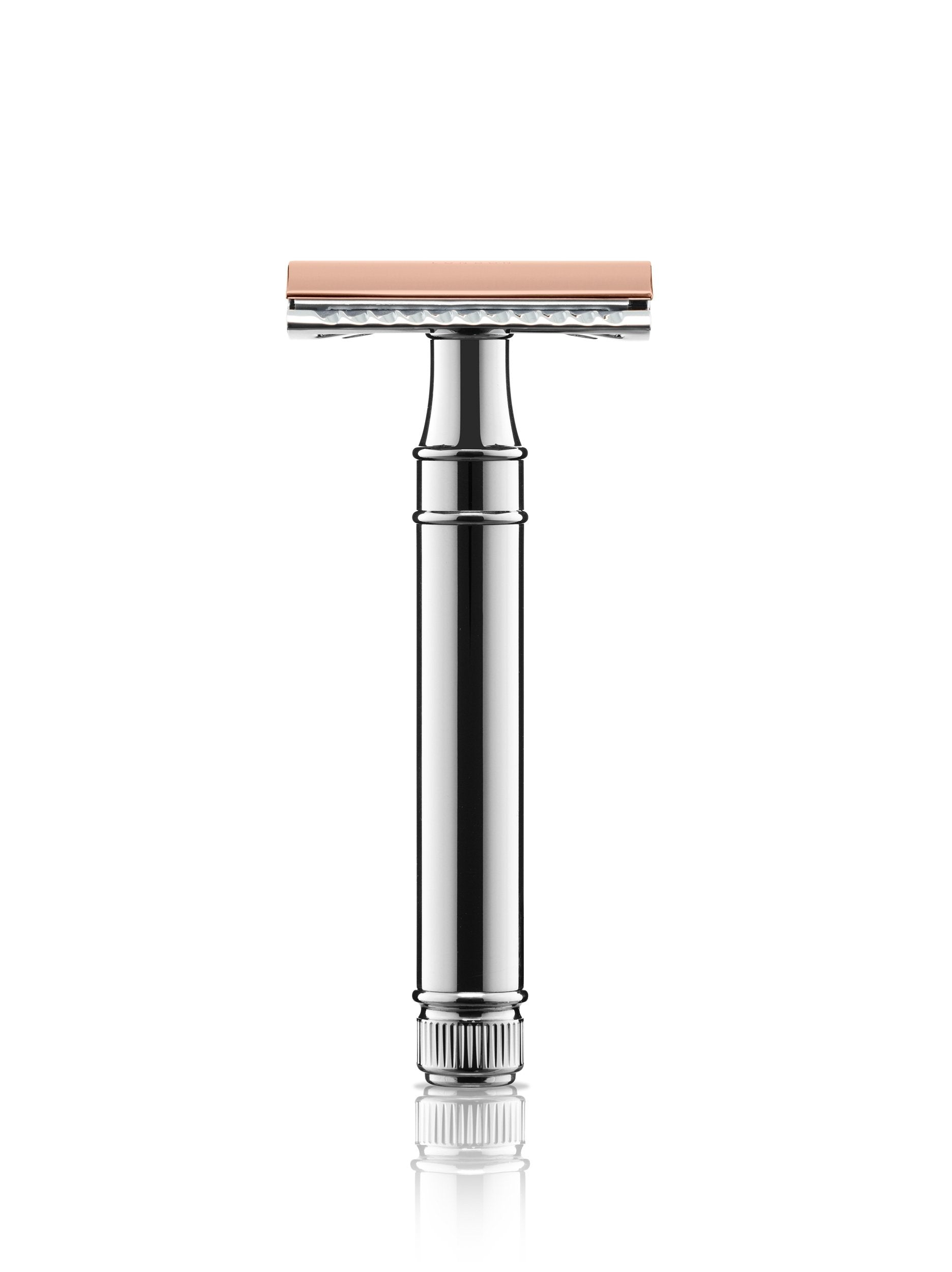 Chrome and Rose Gold Plate - Razor
