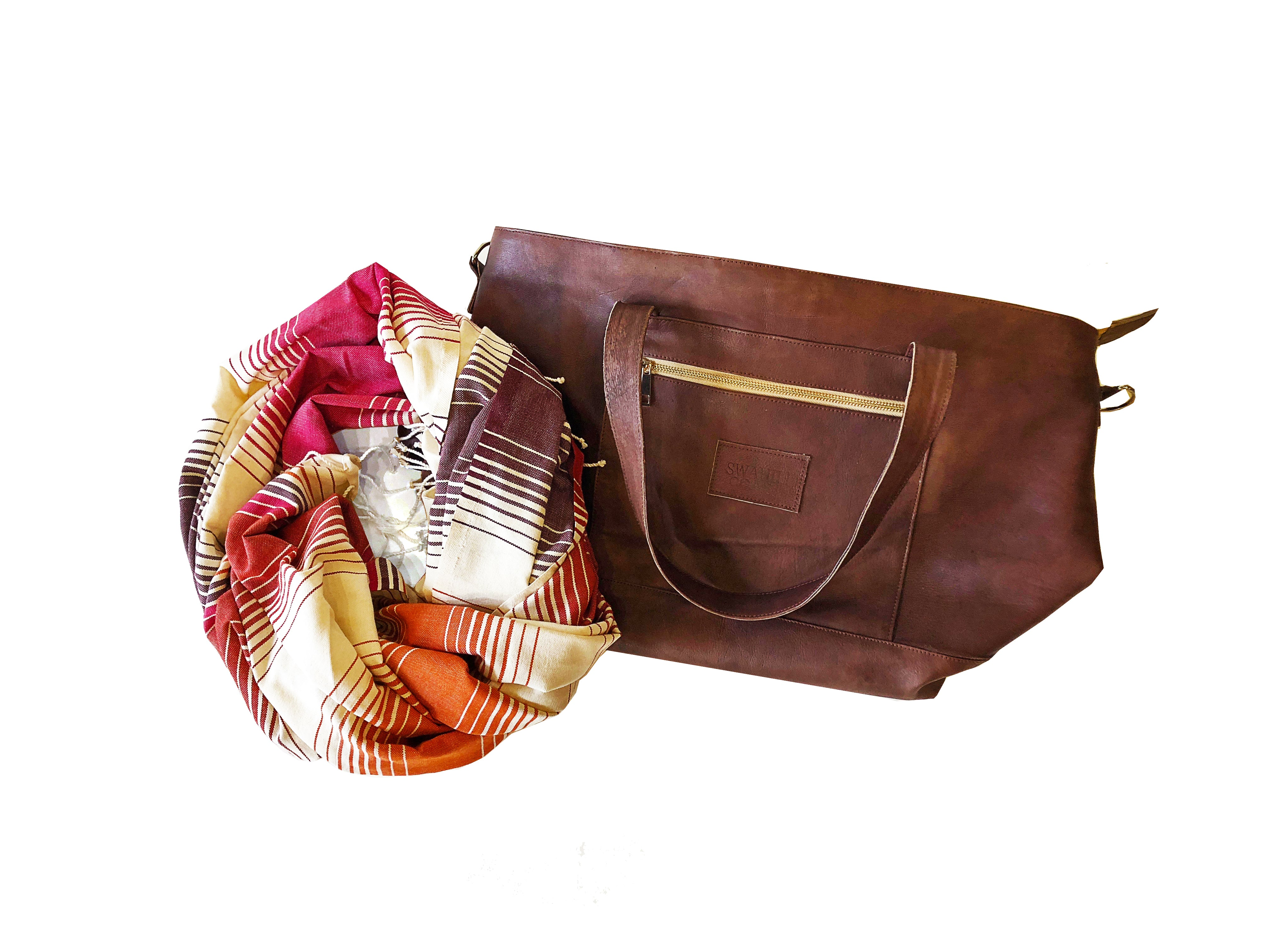 Fair trade bag ethically handmade by empowered artisans in East Africa.