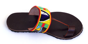 Fair trade sandals ethically handmade by empowered artisans in East Africa.
