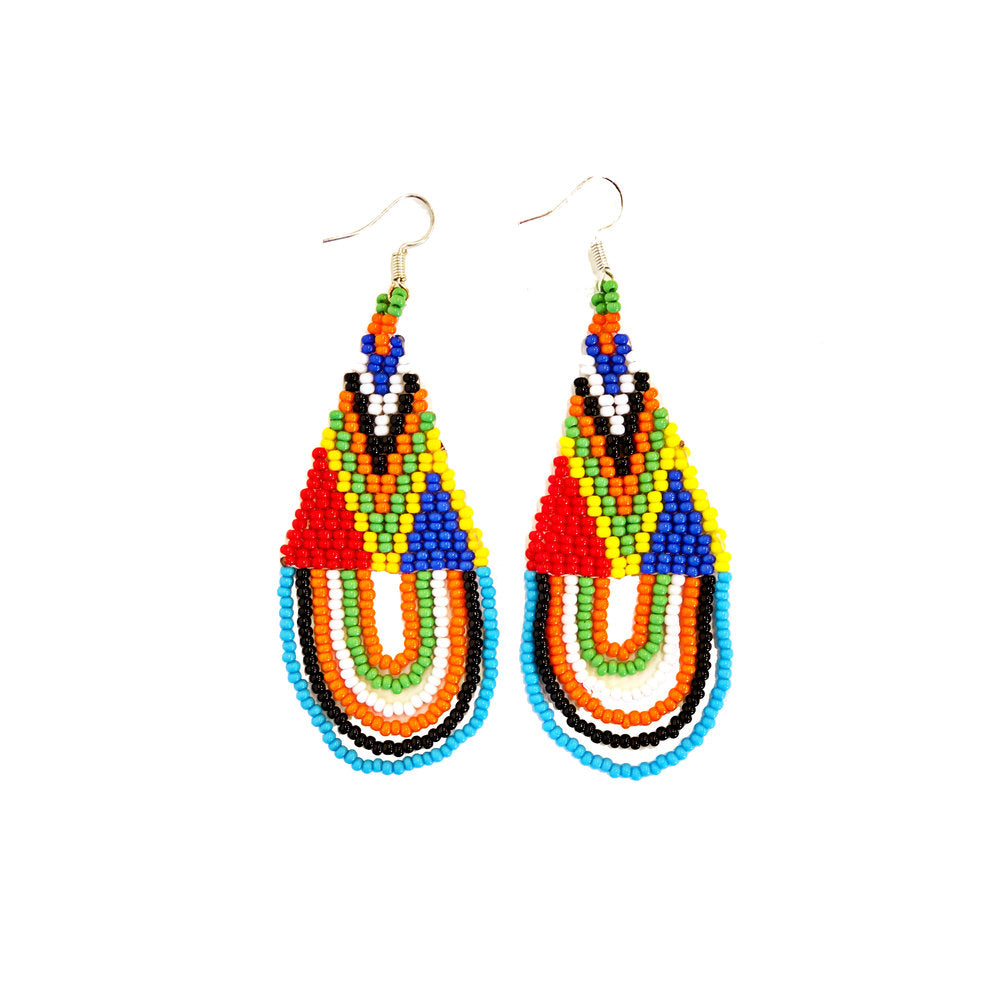 Maasai Tassel Earrings - Multi