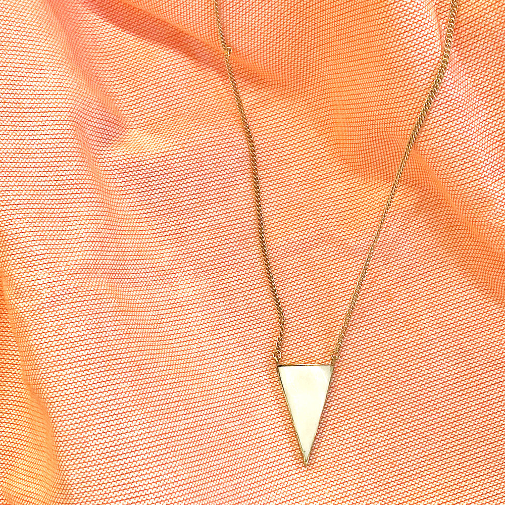 Bone Triangle Necklace