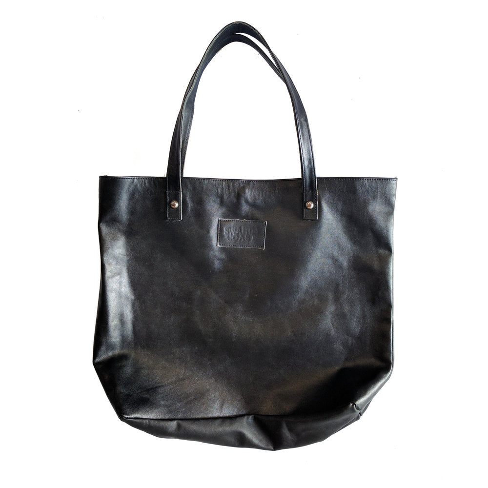 Leather Tote - Black