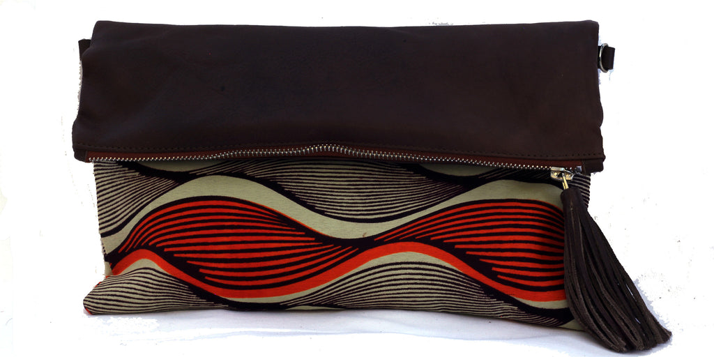 Sunset Waves Fold-over Clutch