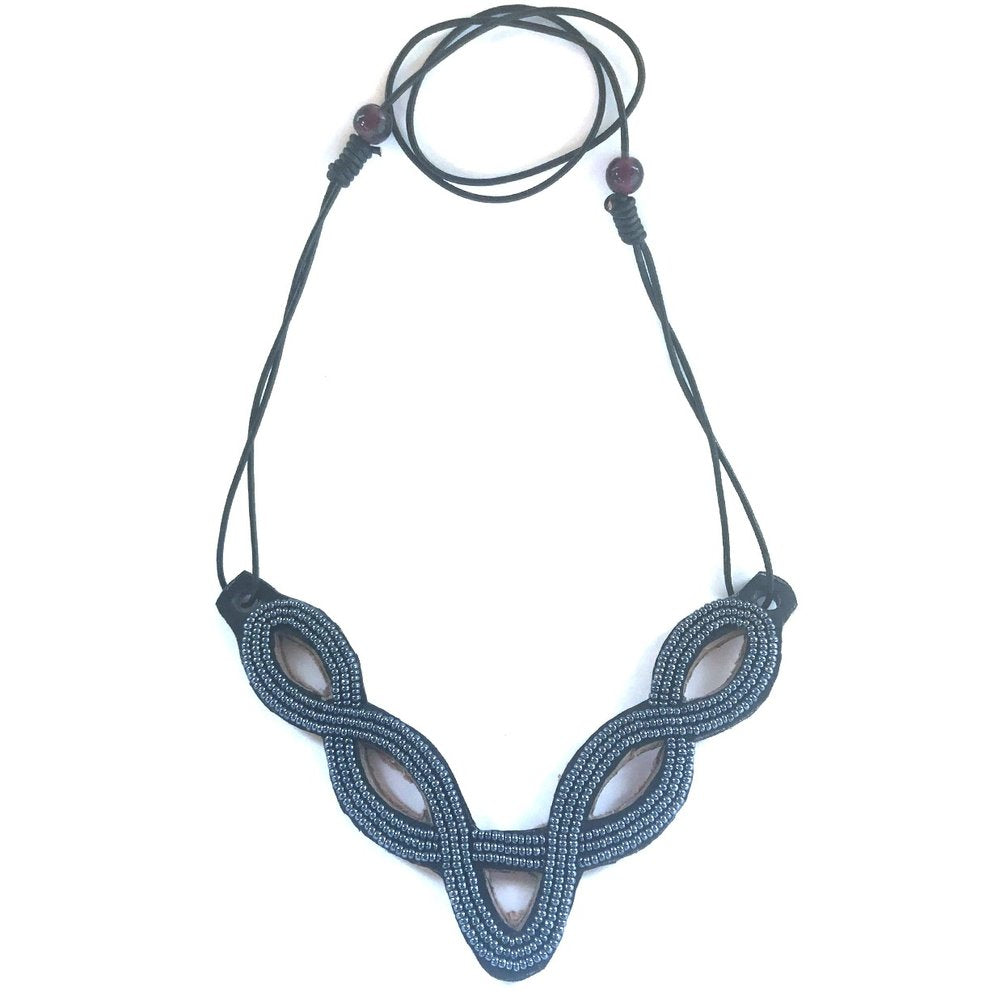 Leather Bib Necklace