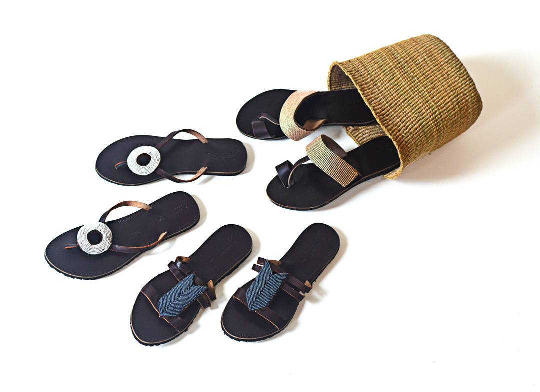 Seeded Hand Sown Sandals. Fair trade accessories ethically handmade by empowered artisans in East Africa.