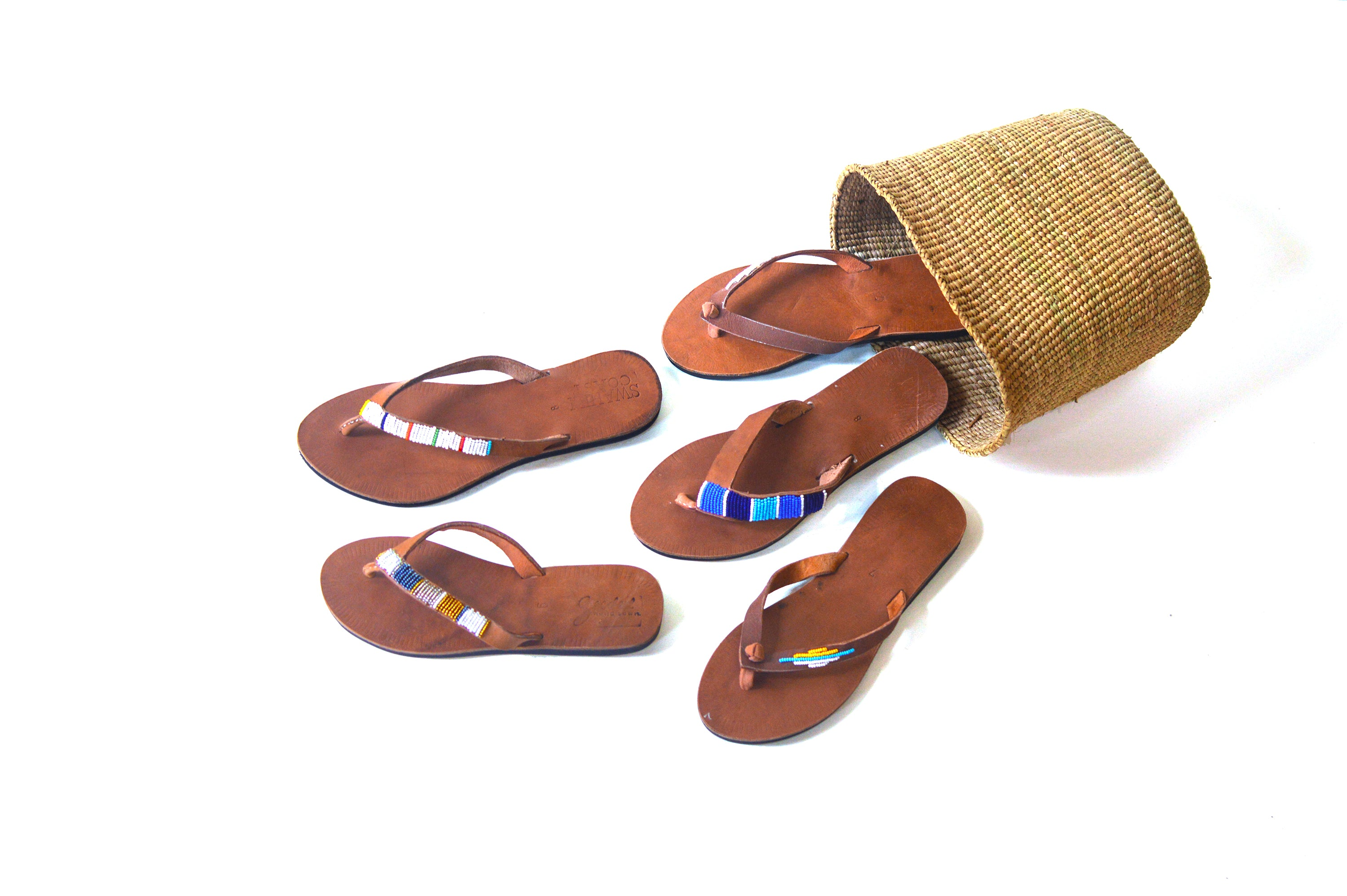 Swahili Coast Sandals. Fair trade accessories ethically handmade by empowered artisans in East Africa.