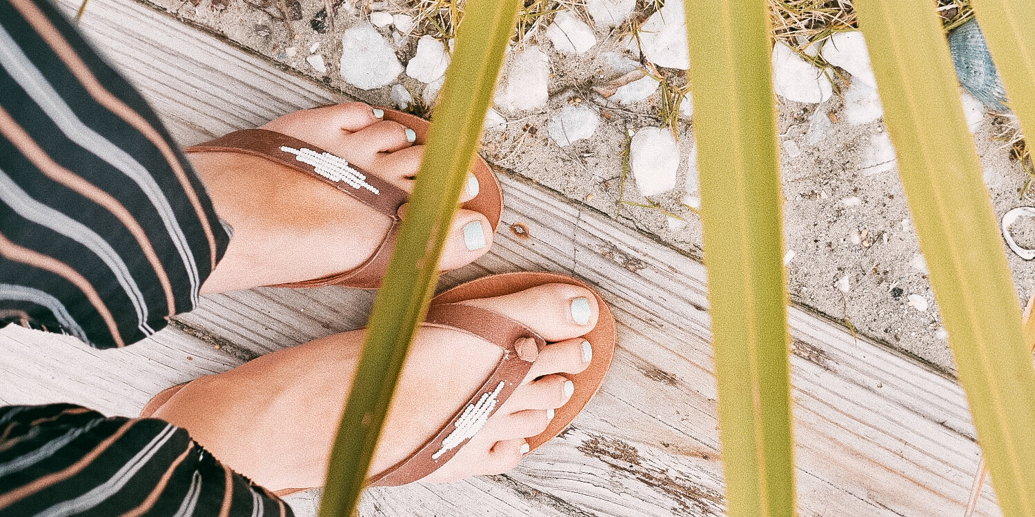 White Diamond Sandals. Fair trade accessories ethically handmade by empowered artisans in East Africa.