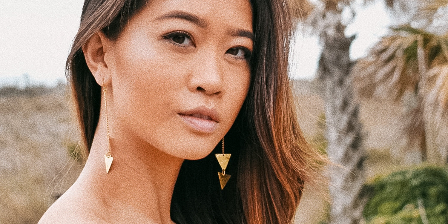 Momentum Brass Earrings. Fair trade accessories ethically handmade by empowered artisans in East Africa.