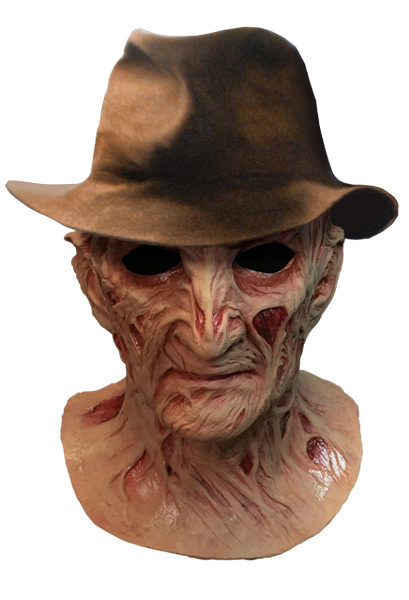 Nightmare on Elm Street 4 - The Dream Master - Deluxe Freddy Krueger Mask with Fedora Hat