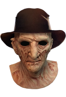 A Nightmare on Elm Street 2 - Freddy's Revenge - Deluxe Freddy Krueger Mask with Fedora Hat