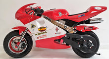 Load image into Gallery viewer, Mini Moto Twin Exhaust Racing Bike Red