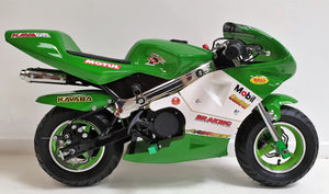 Mini Moto Twin Exhaust Racing Bike Green