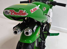 Load image into Gallery viewer, Mini Moto Twin Exhaust Racing Bike Green