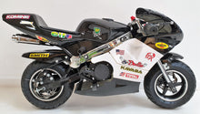 Load image into Gallery viewer, Mini Moto Twin Exhaust Racing Bike Black