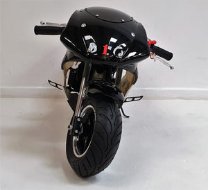 Mini Moto Twin Exhaust Racing Bike Black