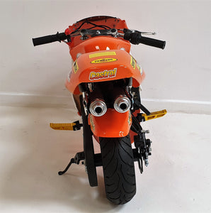 Mini Moto Twin Exhaust Racing Bike Orange