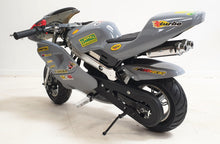 Load image into Gallery viewer, Mini Moto Twin Exhaust Racing Bike Grey