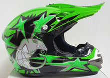 Load image into Gallery viewer, Armageddon Adult Motocross Helmet - Green