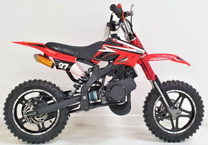 50cc Mini Dirt Bike - Orion - Electric Start - Red