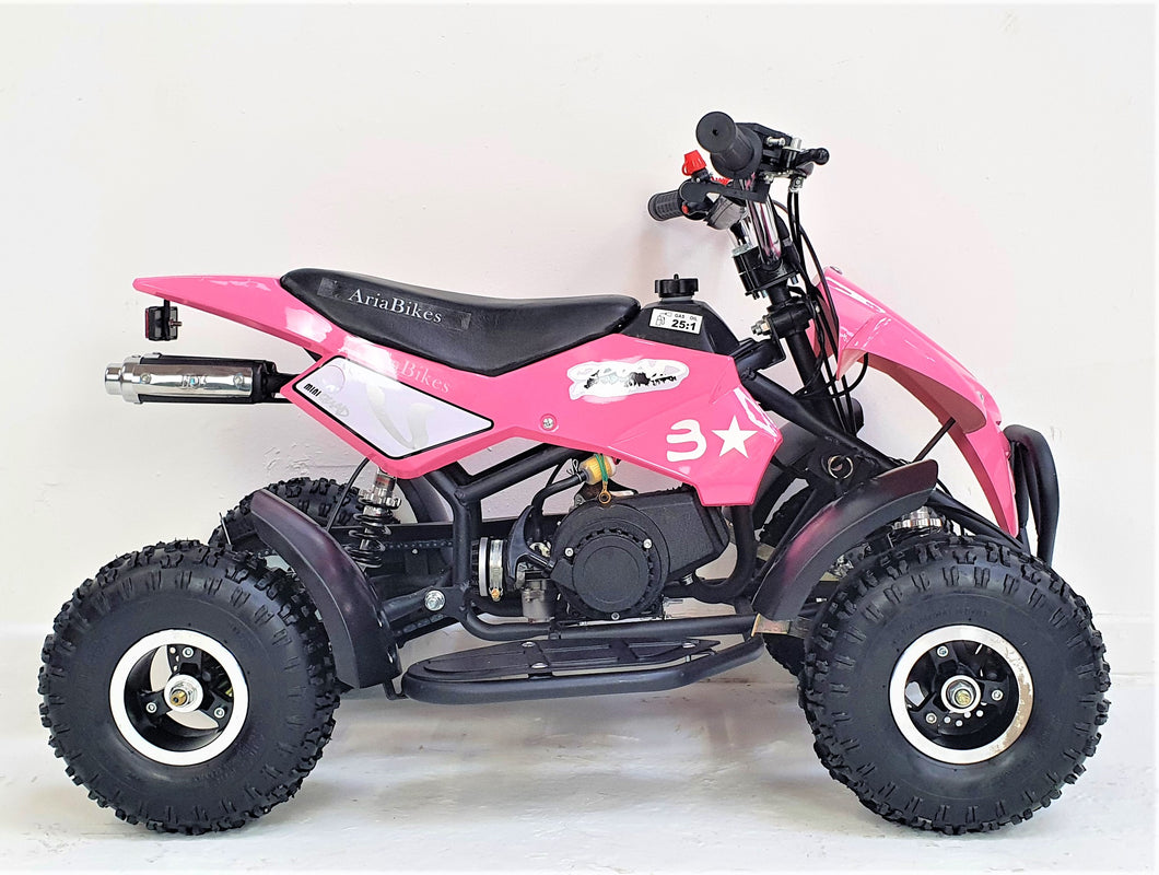 50cc Mini Quad Bike - Electric Start - Pink