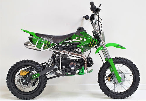 125cc - CXX - Kick Start - Green